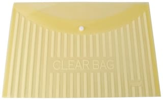DataKing My Clear Bag With Linear Printing, Set Of 12, Color: Yellow Size: FC.