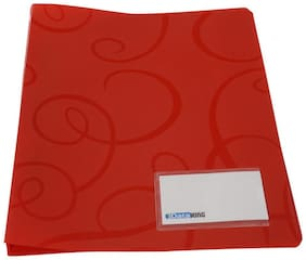 DataKing Polypropylene Report File With Spring Clip, Size A 4, Color: Red, Free Delivery. (Set Of 6, Red)