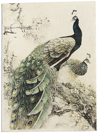 De Kulture Vintage Japanese Peacock Artwork Pocket Diary