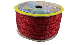 De-Ultimate (Maroon) Color 18 Mtr. Resham Zari Twisted Thread/Dori Lace For Handicrafts & Craft Diy Projects