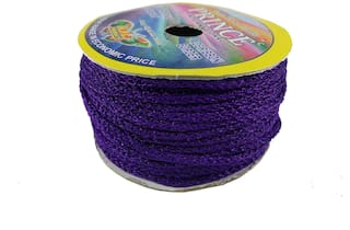 De-Ultimate (Purple) Color 18 Mtr. Resham Zari Twisted Thread/Dori Lace For Handicrafts & Craft Diy Projects