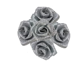 De-Ultimate 50 g (Silver Color) Artificial Handmade Nylon Rose Flowers For Diy Craft Making/Material/Bouquet Making/Wedding/Party Hall/Card Decorations And Gift Packing/Wrappings (Approxly 90 pcs)