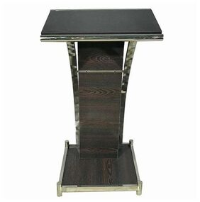 Decornt Lectern Presentation Dias Standing up Desk w/ Tilted Top Board For Conference Prayer Speech Bhashan Podium - Stainless Steel