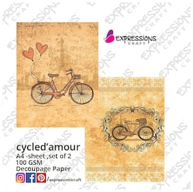 Decoupage papers - Cycle De  Amour