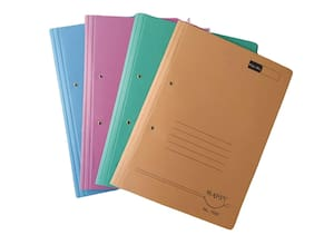 DeHMY Paper Cobra Files with Spring Inside(Pack of 4) Assorted Color
