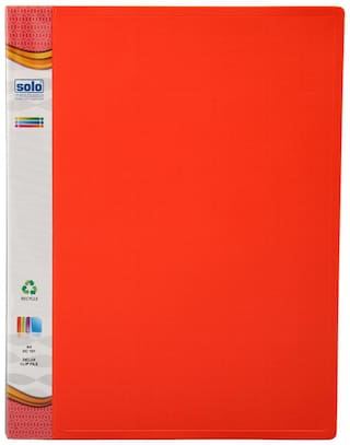 Delux Clip File (pack Of 5) - Red