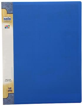 Delux Clip File (pack Of 5) - Blue