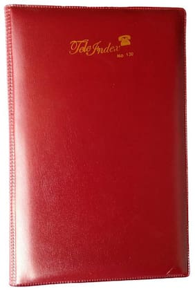 Designer Telephone Index & Address Book With Soft Leather Cover