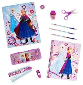 Disney Frozen School Supply Kit Pencil Notebook Sharpner Scissors Ruler New