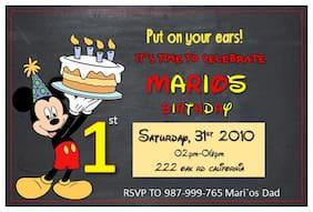 Disney Mickey Mouse 1st Birthday Invitation 10pk Personalized