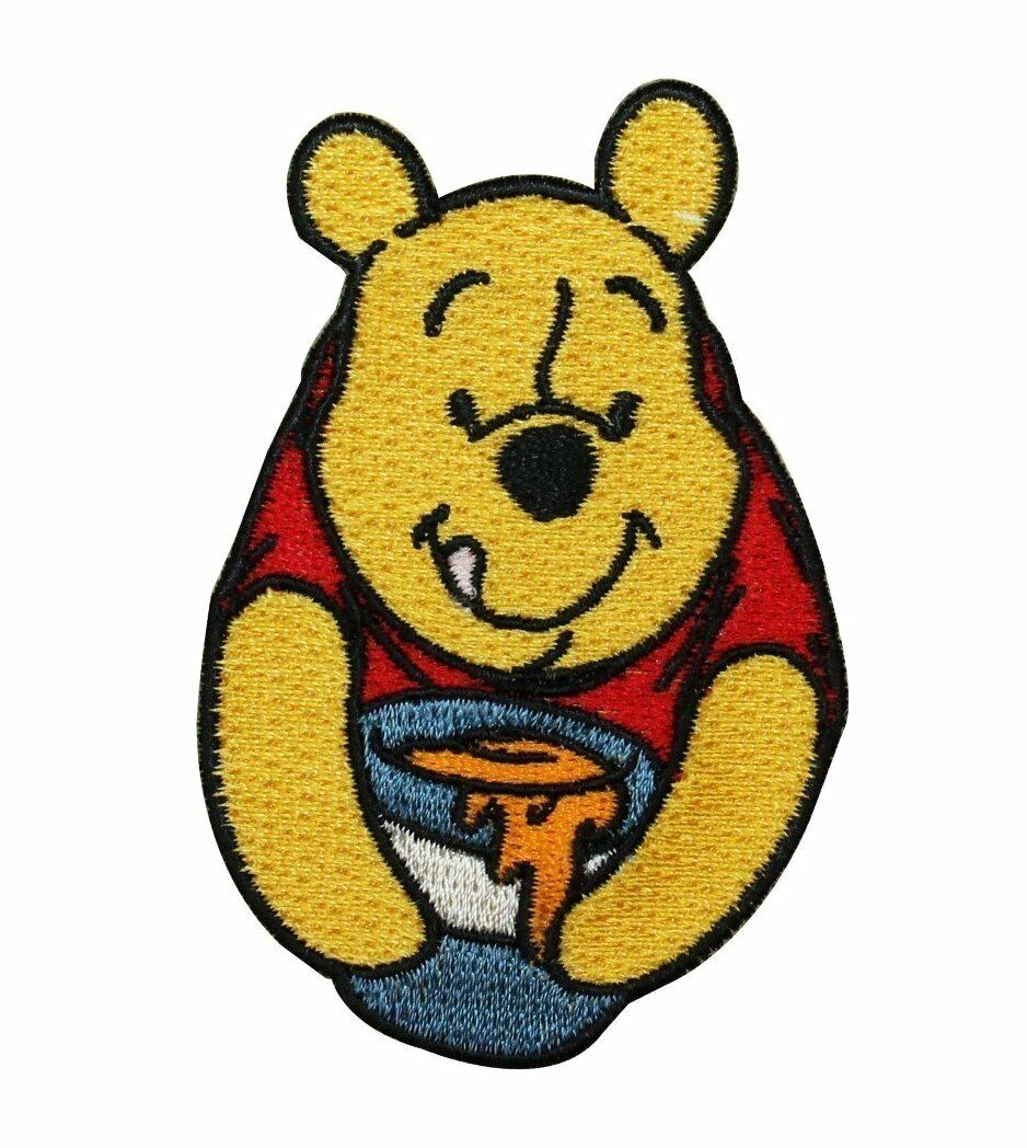 Disney Pixar Winnie The Pooh Bear Patch Iron On Sew On Embroidered Applique