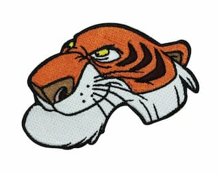 Disney The Jungle Book Shere Khan Tiger Patch Villain Crest IronOn Applique
