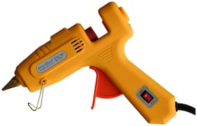 DIVYANSH   CROWN 60/100 WATT GLUE GUN YELLOW COLOR WITH 5 GLUE STICKS
