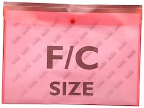 Document Envelope (button;L/scape) (pack Of 10)-pink
