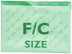 Document Envelope (button;L/scape) (pack Of 10)-green