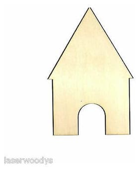 Dog House Unfinished Wood Shape Cut Out DH147 Crafts Lindahl Woodcrafts