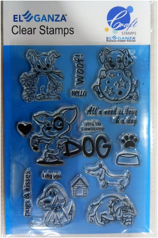 Dogs Rubber stamp craft