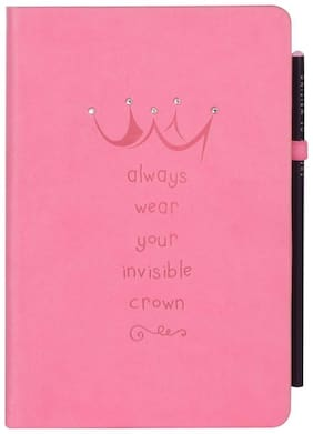Doodle Born To Sparkle Notebook,PU Leather, Hard  Cover,Ruled, 200 Pages, A5 (8.5X 5.5) Inches
