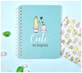 Doodle Cuteness Overload Notebook Diary, Wiro Hardbound, 160 Single Ruled pages, 80 GSM, Gift for Friends, Birthday gift, Gift for Girlfriend
