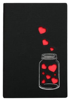 Doodle Love in a Jar Notebook Diary Valentines Day Gift, Birthday/ Anniversary Gift
