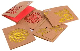 Doodle Love and Light - Red Lasercut Notecards
