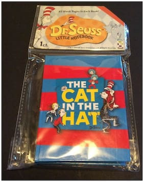 Dr.Seuss Little Notebook 82 Blank Pages The Cat In The Hat New!! Fun Unique Gift
