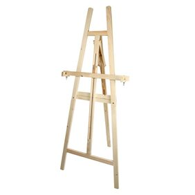 Duster Brown 2 In 1 Wooden Multiple Purpose Easel Stand 5 Feet