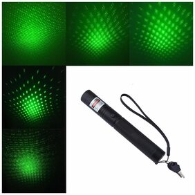 Duze JD 303 Focus Green Laser Adjustable Pointer with 18650 Battery and Charger(DUZE001)