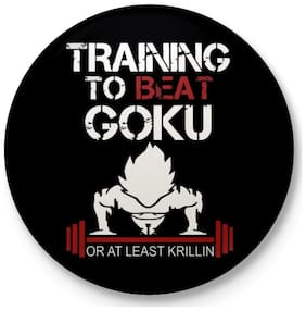 Eagletail India DBZ  Training to beat Goku or atleast krillin Pin Badge