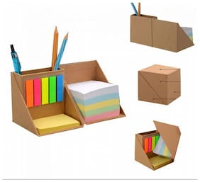 Eco Friendly Memo Cube With Sticky Notepad and Pen Stand