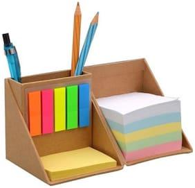 Ek Retail Shop Foldable Cube Card Board Desk Organizer