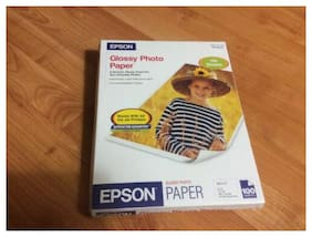 Epson Glossy Photo Paper 100 Sheets,8.5x11, Ink Jet Printer.