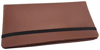 Essart Faux Leather Multiple Cheque Book Folder/Check Holder - Tan