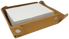 Essart PU Leather Desinger Slip Box with rivets-Yellow