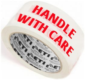 ETI Cello Tape 2 inch 65M (Handle with Care Fragile Tape Printed) (Pack Of 3)