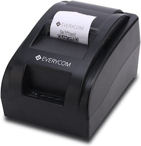 Everycom EC-58 58mm (2 Inches) Direct Thermal Printer USB - Monochrome - Desktop - Receipt Print (EC58BLK)