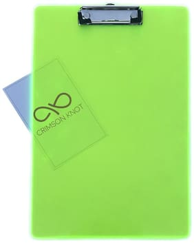 Exam Pad with Clip - Transparent Green Acrylic