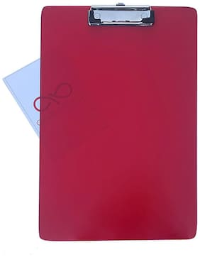Exam Pad with Clip - Transparent Red Acrylic