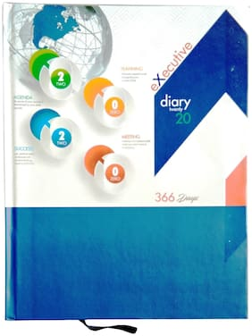 Excel 2020 Executive Style Superior Quality Diary with Excellent Design, (2020 Executive, Multicolor, Office Diary with Sunday Full page)