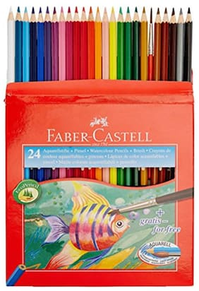 Faber-Castell Design Series Aquarelle Water Color Pencils - 24 Shades