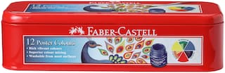 Faber-Castell Poster Colour (Set of 12 each pack)Pack of 2