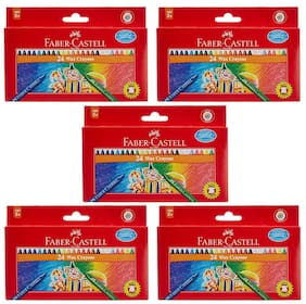 Faber Castell 24 Wax Crayons - Pack of 5