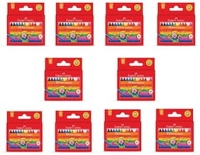 Faber Castell 12 Wax Crayons (Pack of 10)
