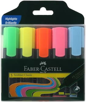 Faber-Castell Multi Textliner Set of 5 each pack(Pack of 4)