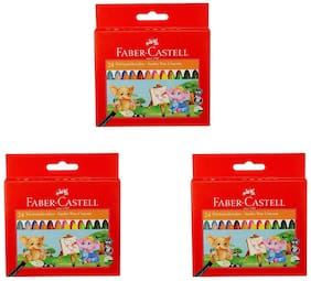 Faber-Castell Jumbo Wax Crayons - 24 Shades (Pack of 3)