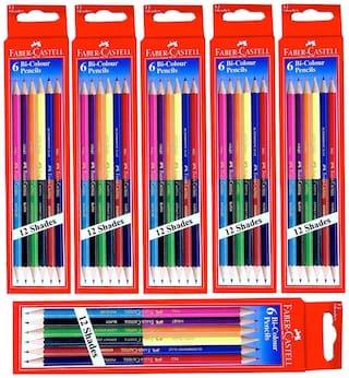 Faber Castell Stationery Combos Set-Bi Colour Pencils