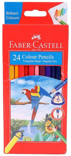 Faber-Castell Tri-Colour Pencils - Set of 24 (Pack of 2)