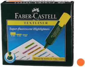 Faber-Castell Text Liner Pen Orange Set of 10 pcs each pack(Pack of 2)