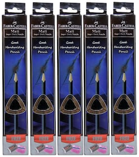 Faber Castell Matt Super Dark Pencils Box Of 10 (Pack Of 5)