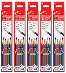 Faber Castell ole Grip Super Dark Pencils set of 10 (Pack of 6)